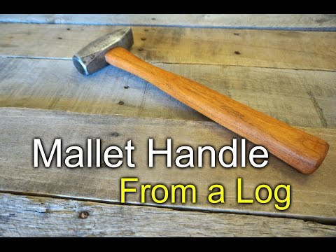 Mallet handle from a mesquite log