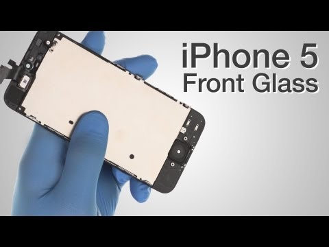 Front Glass LCD Screen Assembly Repair - iPhone 5 How to Tutorial