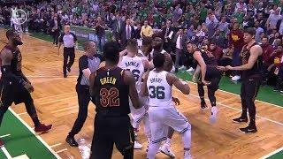 Larry Nance Jr & Marcus Morris Scuffle - Game 5 | Cavaliers vs Celtics | 2018 NBA Playoffs