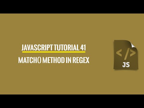 Javascript Tutorial 41: match()