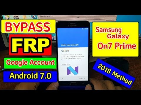 How To Bypass FRP Google Account Samsung Galaxy on7 Prime androi