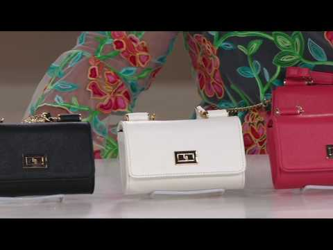 Petite Handbag with Detachable Chain by Lori Greiner on QVC
