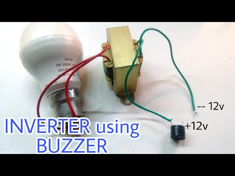 DC to AC Inverter using Buzzer | 12v to 220v