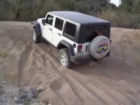 Sand hill 4x4 driving demo in JK Jeep Wranglers