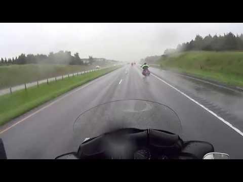 Riding Motorcycles in Heavy Rain