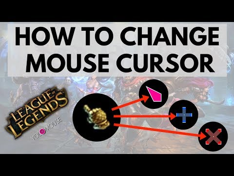 How to change cursor in League of legends