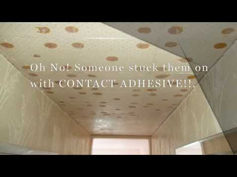 How to Remove Contact Adhesive From a Ceiling