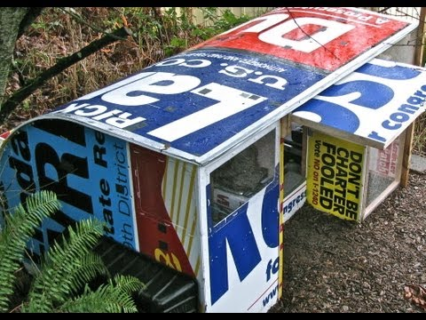 Recycled campaign signs