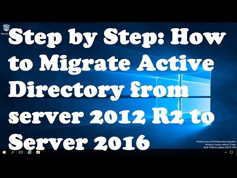 Step by Step Guide to Migrate Active Directory from server 2012 R2 to Server 2016
