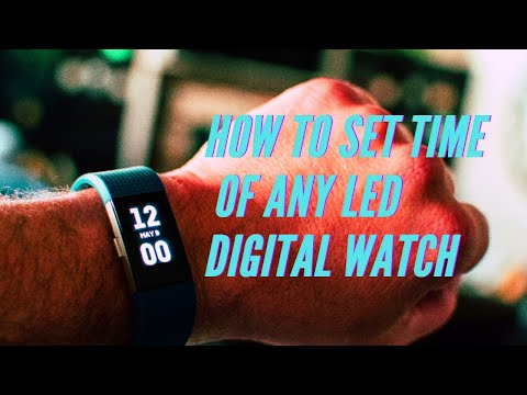 LED Digital Watch Rubber Band Review and Set-up | Gearbest