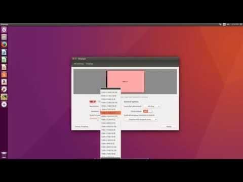 How to set screen resolution in Ubuntu (16.04 Unity)