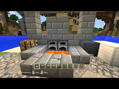 Minecraft Xbox 360: Our First Blacksmith!
