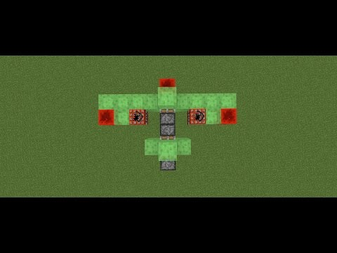 MINECRAFT: How To Make A Bomber Plane! (EASY) (2017)