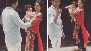 Karanvir Bohra's Baby Wants To Stay With Mouni Roy | Naagin 2 | TellyMasala