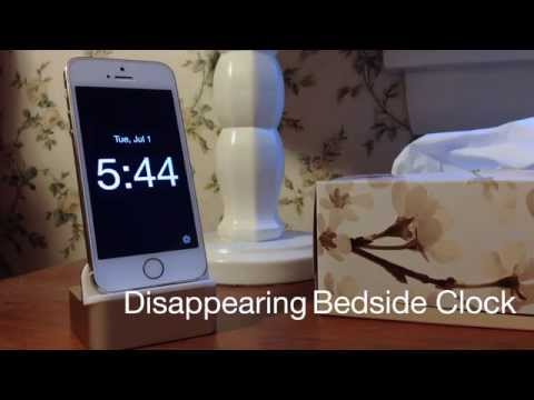 Simply Amazing: Disappearing Bedside Clock app for iOS (no touching!)