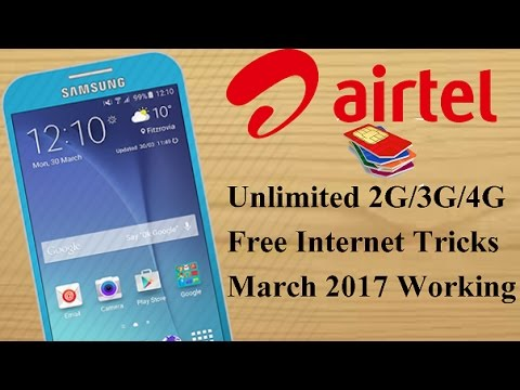 Airtel Unlimited 3G/4G Free Internet Tricks Real Not Fake 100 % Working Tricks March 2017