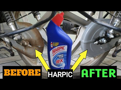 How to Clean Motorcycle Chain Cover by HARPIC || Motorcycle Chain cleaner at Home