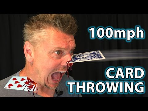 HOW to THROW CARDS 100mph + Real Life Trick Shots!!