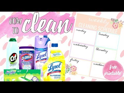 ♥ 7 WAYS TO MAKE CLEANING EASIER & FREE Printable:  BEST CLEANING TIPS  [Paris & Roxy]