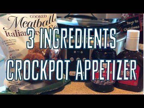 Easy Crockpot Appetizer ⇒BBQ Meatballs