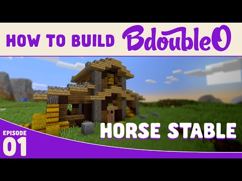 Minecraft How to build :: Cool Horse Stable