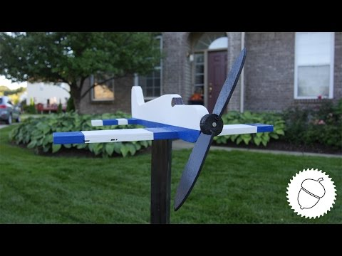 How to Make an Airplane Whirligig | Free Template!