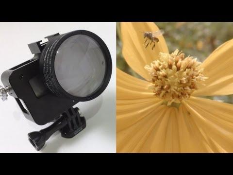 How to use macro filter w/ Gopro HERO5/6, minimum focus test & sample footage