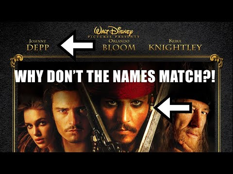 Why Don't Movie Poster Names EVER Line Up?!