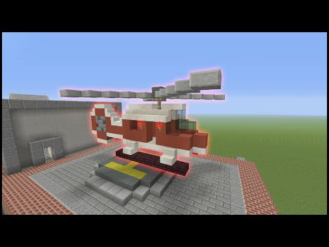 Minecraft Tutorial: How To Make A Fire And Rescue Helicopter