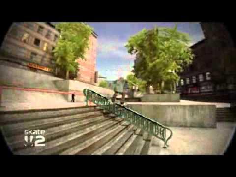 Skate 2   Lower Rez Rail Grind   x BlueRobot