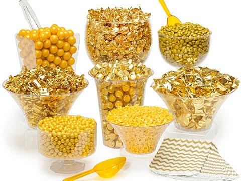 LUXURY Gold Candy Buffet Kit