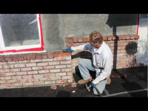 Stucco brick walls