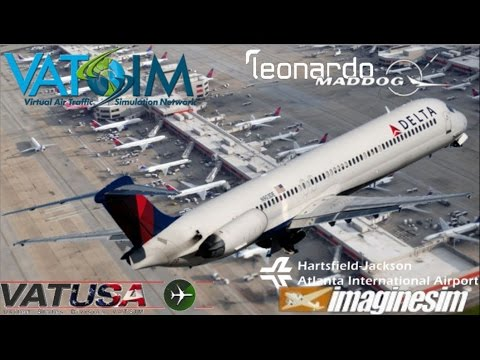 Leonardo Maddog MD80 flies Birmingham to Atlanta on Vatsim