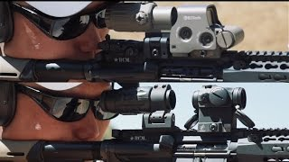 AR15 EOTech EXPS 3-0 vs AimPoint T-2 Red Dots