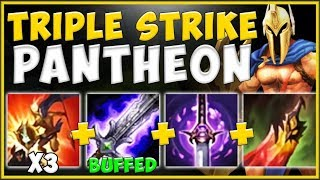 WTF! ONE PANTHEON COMBO SHOULD *NEVER* DO THIS MUCH DAMAGE! PANTHEON GAMEPLAY! - League of Legends