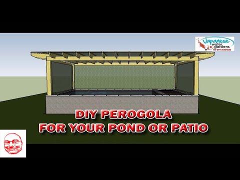 Diy Koi Pond Construction of a Pergola