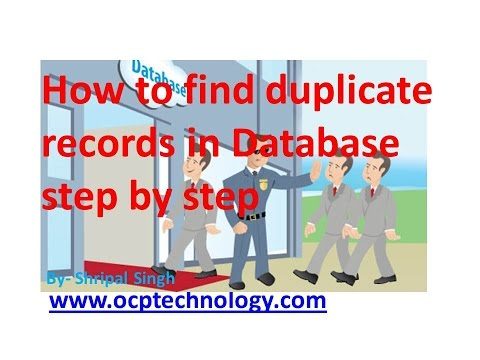 Oracle Tutorial - How to find duplicate records in table