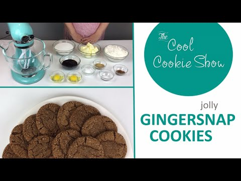 Jolly Gingersnap Cookies