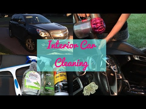 CLEAN WITH ME // car interior