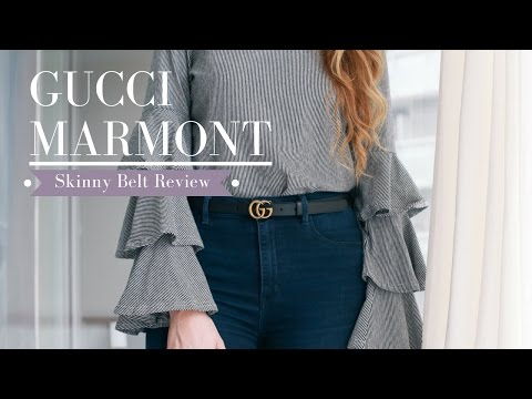 GUCCI Marmont Skinny Belt Sizing & Try-On || Nataliastyle