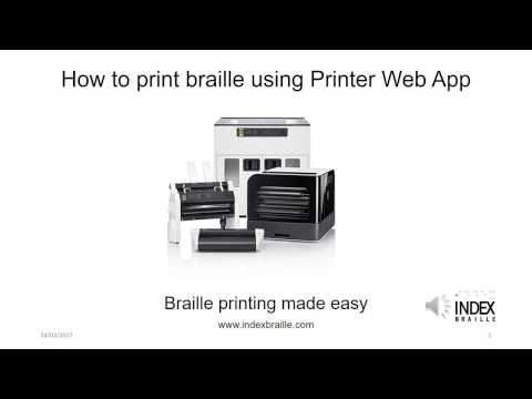 How to print braille using Printer Web App (with narration)