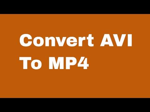 Convert AVI to MP4 Using VLC Media Player