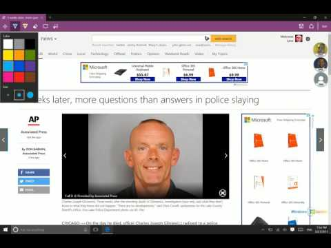 Windows 10 - Marking Up a Page with Web Notes