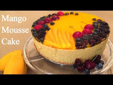 Mango Mousse Cake Recipe - How to make a Mousse Cake - Tasty Mouse Cake Recipe