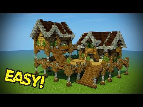 Minecraft: Starter Base Tutorial - Wooden Minecraft House