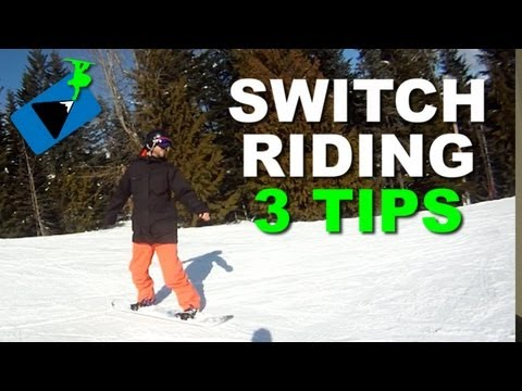How to Ride Switch on a Snowboard - Snowboarding Tricks