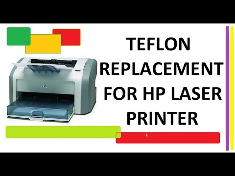 How to replace the fuser film sleeve (TEFLON) hp laserjet 1020 1012 1015 1018 1020 1022: Tutorial