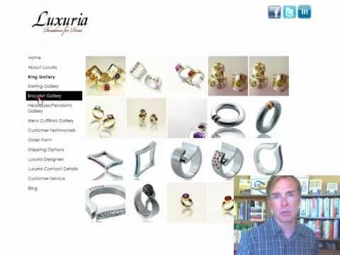 Website Design Review Video Luxuria Jewellery
