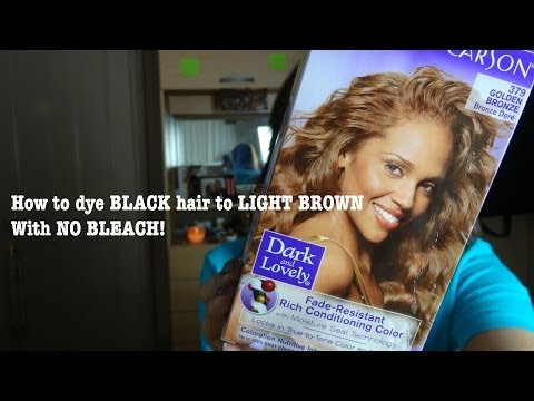 How to dye black hair to golden brown without bleach || KUWR