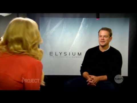 Matt Damon interview on The Project (2013) - Elysium